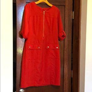 Dress barn women's orange dress size 8